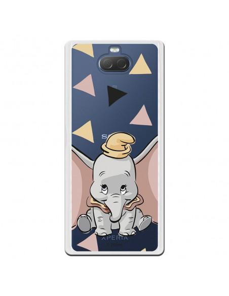 Carcasa Oficial Disney Dumbo silueta transparente para Sony Xperia 10 - Dumbo- La Casa de las Carcasas