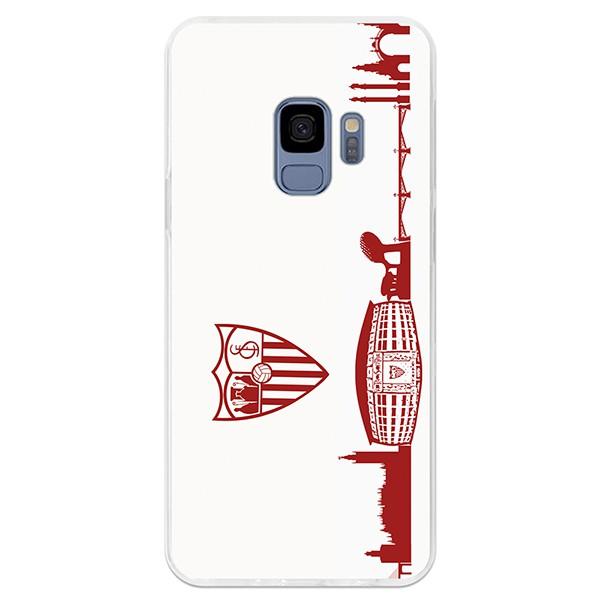81f3388c8b0 Carcasa Oficial Sevilla skyline rojo Samsung Galaxy S9