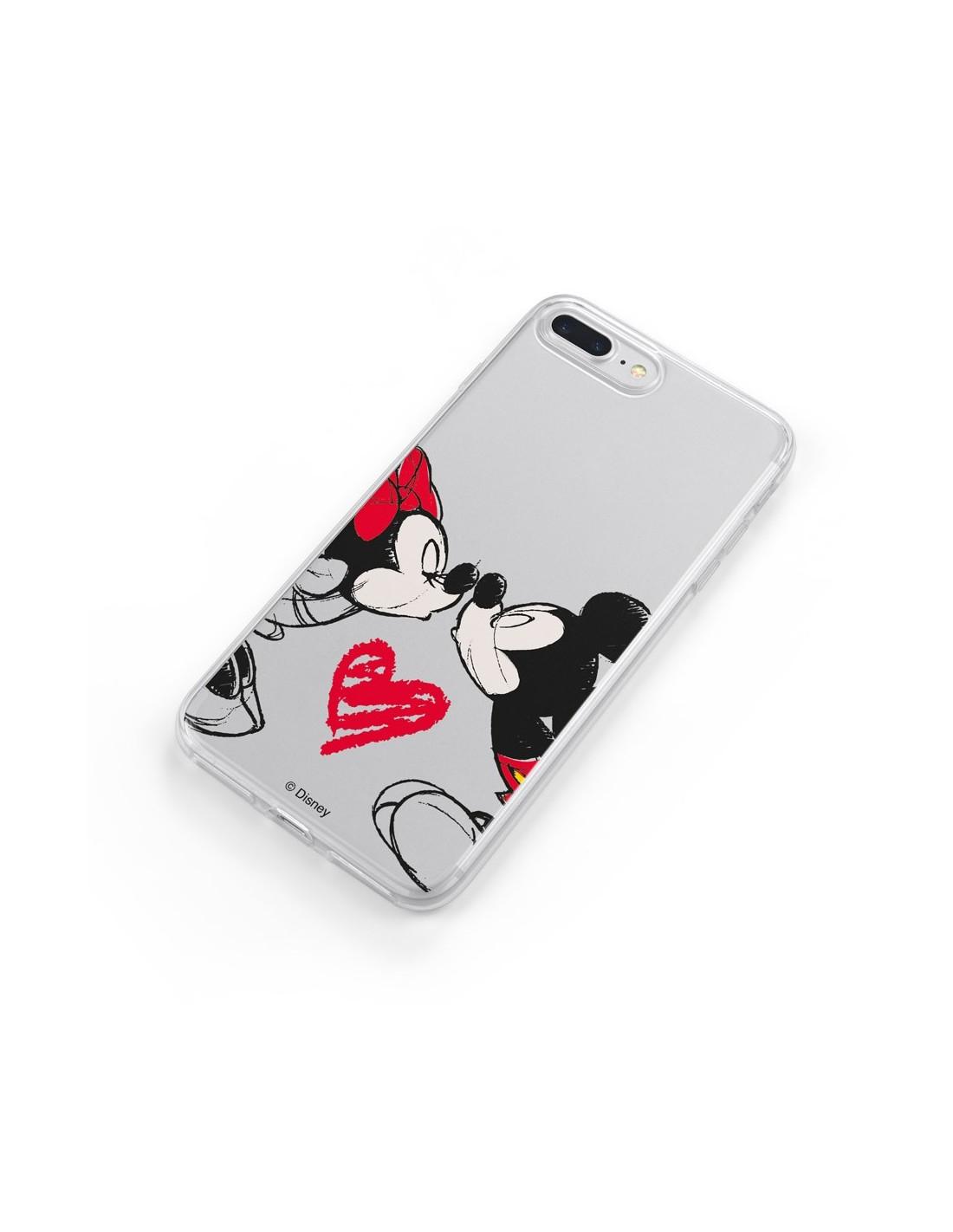 Funda para iPhone 11 Oficial de Disney Mickey y Minnie Beso