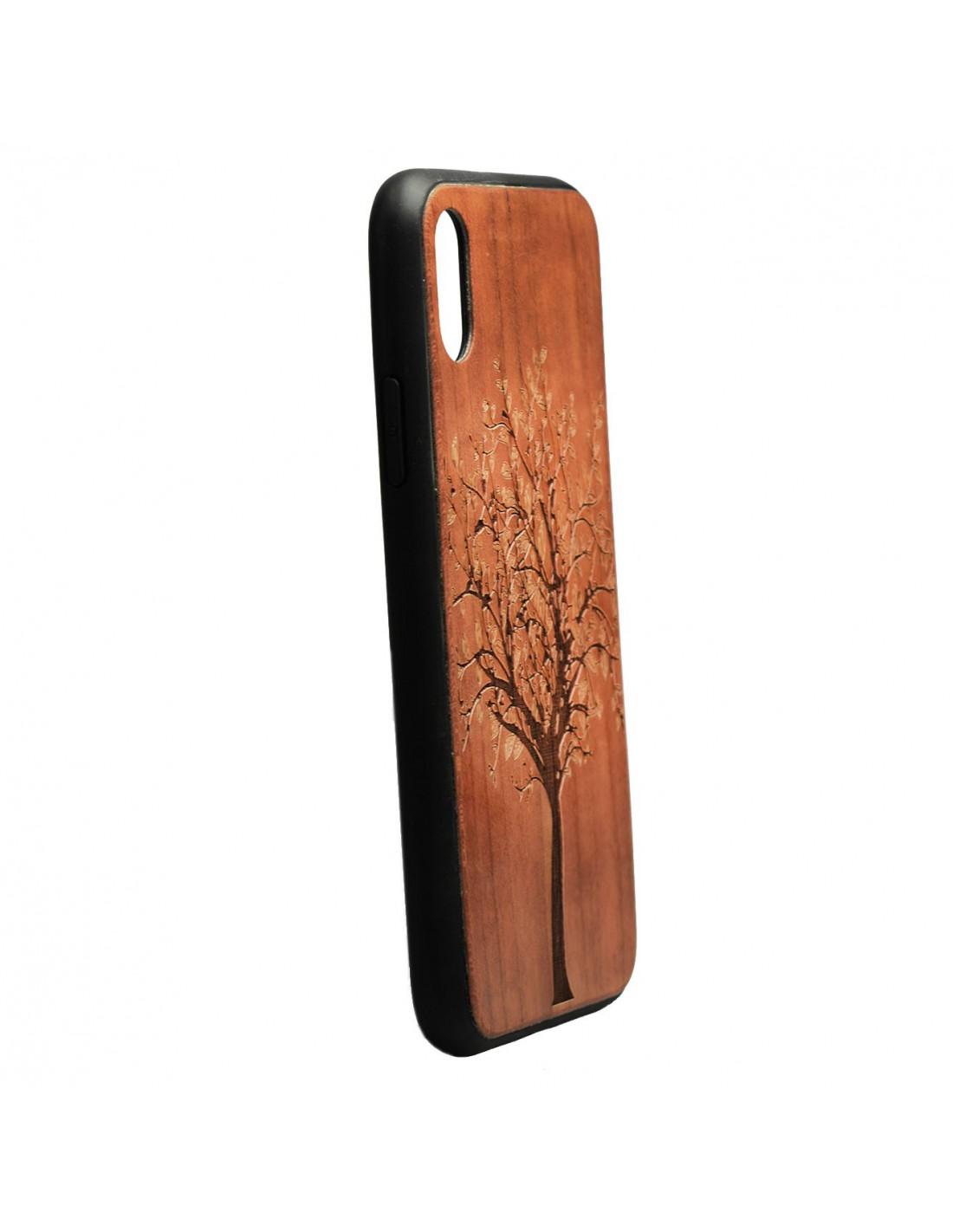 490433c04a4 Carcasa Madera Tallada Árbol para iPhone X