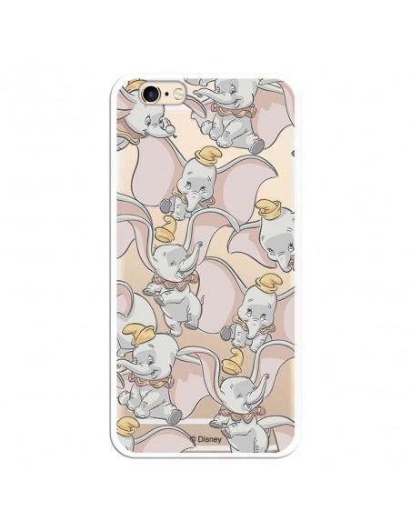 Carcasa Oficial Disney Dumbo Patrón Clear para iPhone 6 - La Casa de las Carcasas