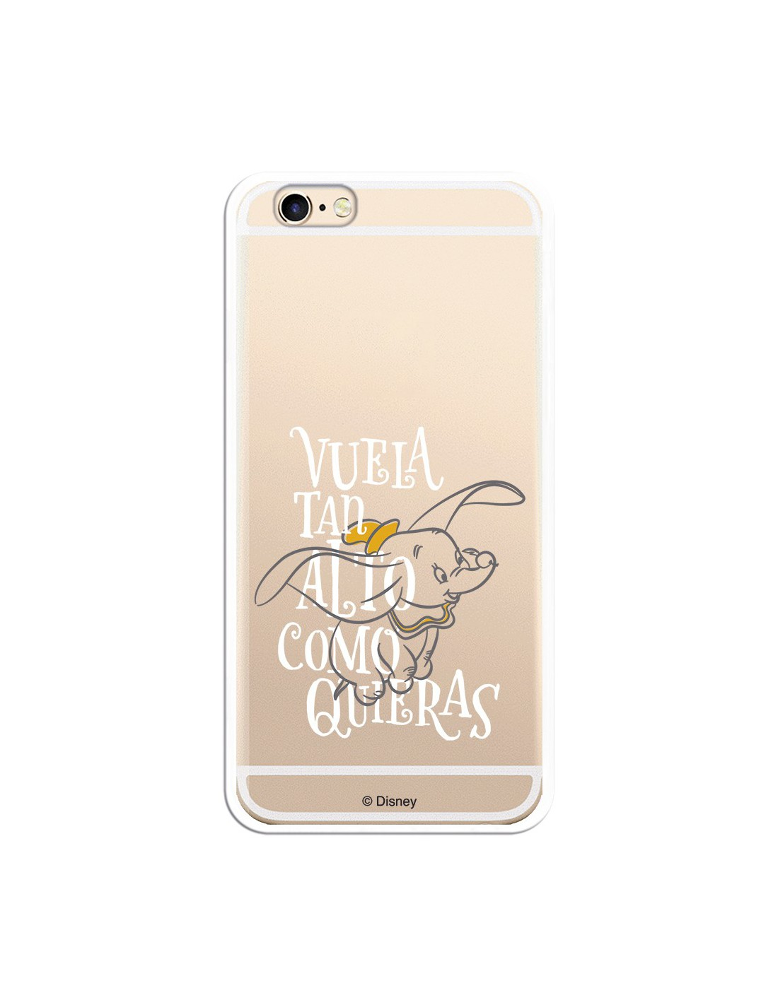Funda Oficial Disney Dumbo Vuela tan alto Clear para iPhone 7 Plus
