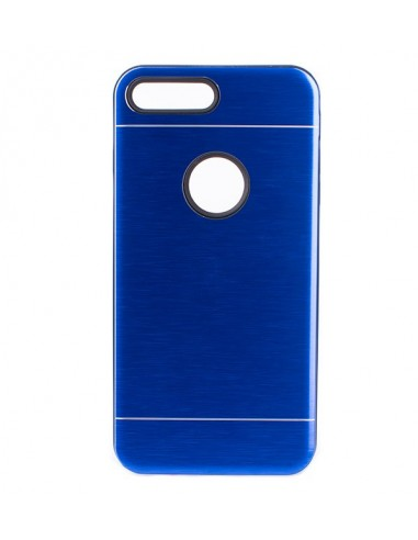 Carcasa Metalizada Doble Azul iPhone  Plus