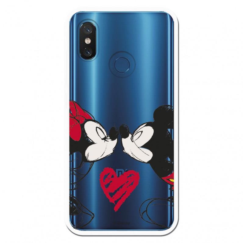 Carcasa Oficial Mikey Y Minnie Beso Clear para Xiaomi Mi 8- La Casa de las Carcasas