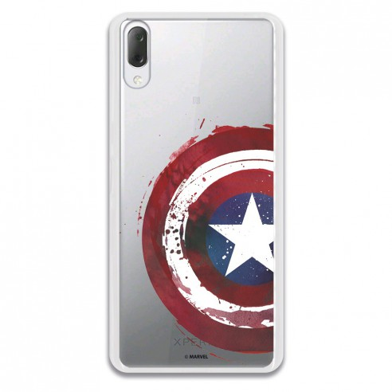 Carcasa Oficial Escudo Capitan America para Sony Xperia L3- La Casa de las Carcasas